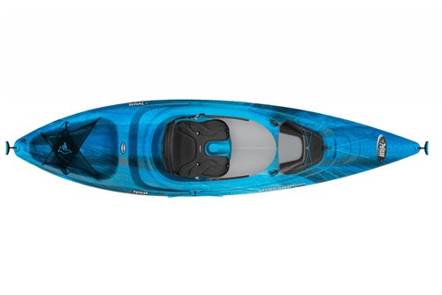 Pelican International Mission premium aqua blue kayak
